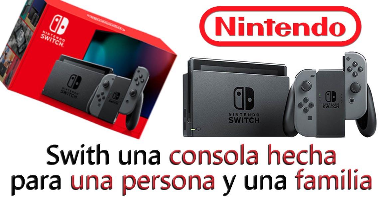 Nintendo/Nintendo Swit Gray/Nintendo Switch hecho para la familia