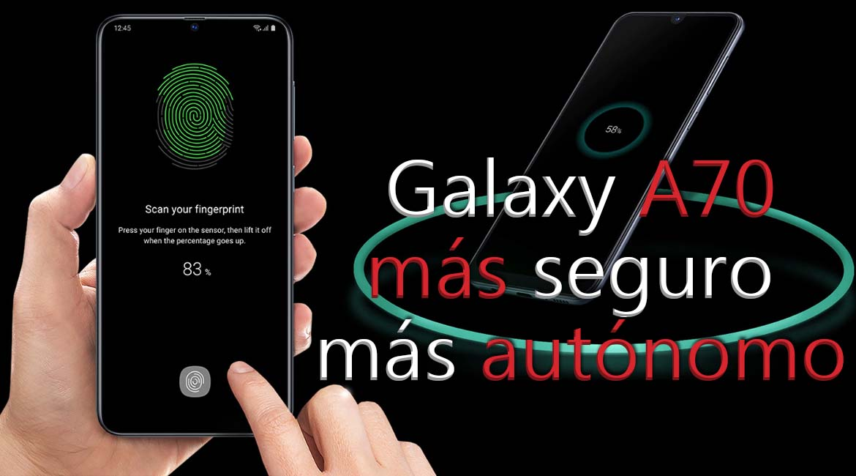 Samsung Galaxy A70 autónomo