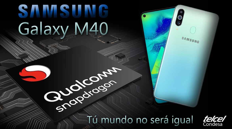 Samsung Galaxy M40 diseño