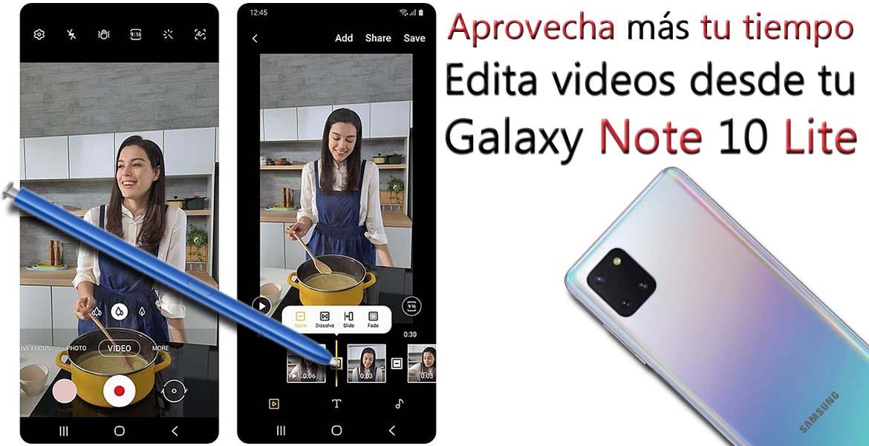 Note 10 Lite Edita videos