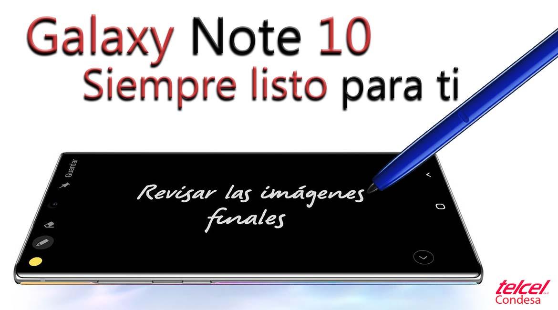 galaxy note 10 siempre listo
